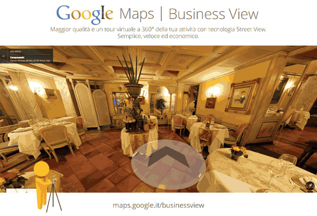 virtual tour google Maps Business View